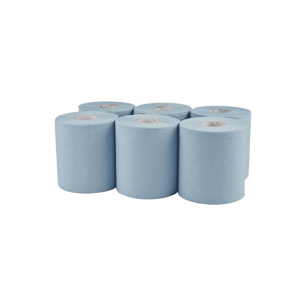 THS Centre Feed 2 Ply - Blue 150M per 6 rolls