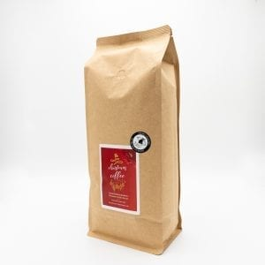 Christmas coffee bag from The Island Tea and Coffee Co. 1kg
